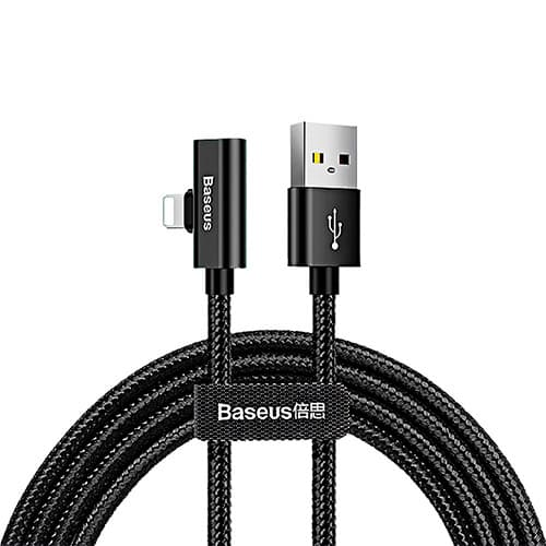 Baseus Entertaining Audio data Cable USB For lightning 2A 1M Black