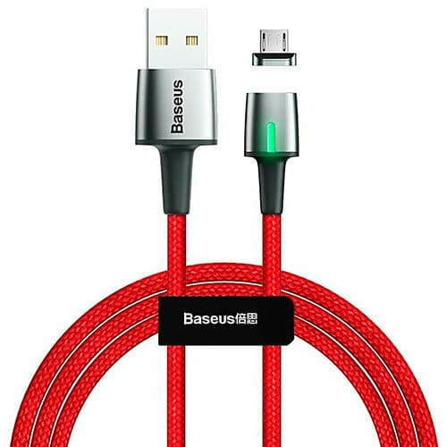 Baseus Zinc Magnetic Cable USB For Micro 1.5A 2m Red