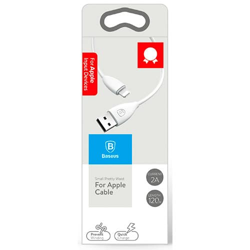 Baseus Small Pretty Waist Cable For Apple 1.2M White