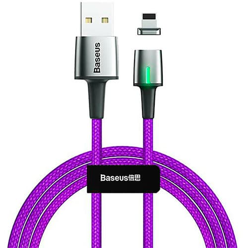 Baseus Zinc Magnetic Cable USB For iP 2.4A 1m Purple