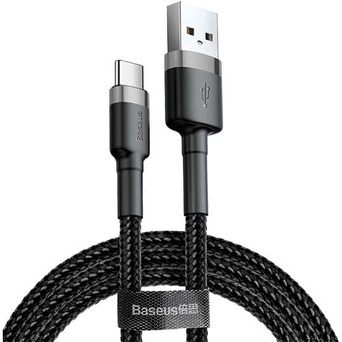 Baseus cafule Cable USB For Type-C 3A 0.5M Gray+Black
