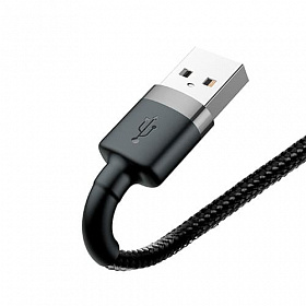 Baseus cafule Cable USB For lightning 2.4A 0.5M Gray+Black