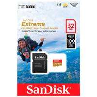 SanDisk MicroSD 32GB Class 10 Extreme Action Cameras UHS-I U3 A1 (100 Mb/s) + адаптер