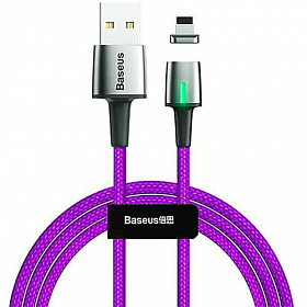 Baseus Zinc Magnetic Cable USB For iP 1.5A 2m Purple