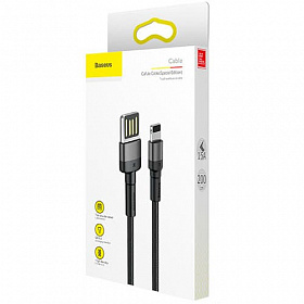Baseus Cafule Cable (special edition) USB For iP 2.4A 1M Grey+Black