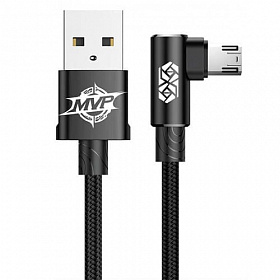 Baseus MVP Elbow Type Cable USB For Micro 1.5A 2M Black