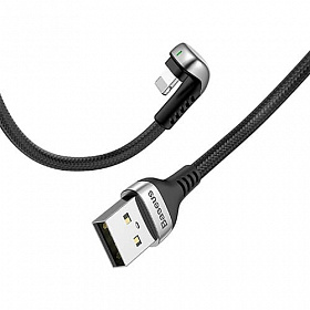 Baseus Green U-shaped lamp Mobile Game Cable USB For iP 1.5A 2M Black